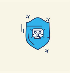 Cyber security icon with creative and unique vector