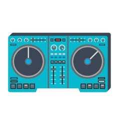 Dj music equipment icon vector image