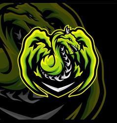 Dragon esports logo design dragon mascot gaming vector