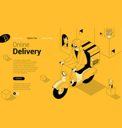 express delivery isometric concept vector image