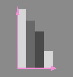 flat icon on theme arabic business economic chart vector image