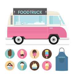 Food truck ice cream vector