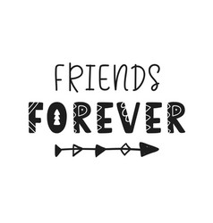 Friends forever lettering isolated on white vector