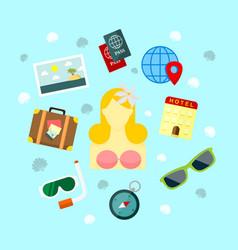 fun holiday travel vector image