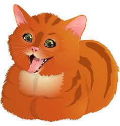 Ginger laughing cat vector