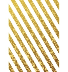 Gold glittering seamless lines pattern on white vector