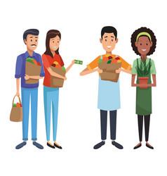 grocery business cartoon vector image