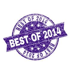 Grunge textured best of 2014 stamp seal vector