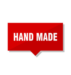hand made red tag vector image