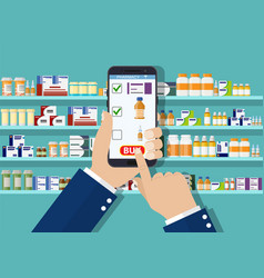 hand pharmacist hands holding tablet vector image
