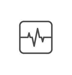 heart pulse line icon vector image