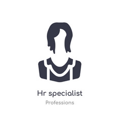 Hr specialist icon isolated hr specialist icon vector