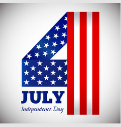 independence day july fourth symbol vector image