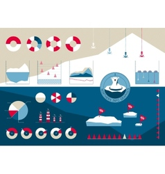 Infographics in the northern style with icebergs vector