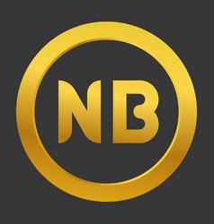 Initial letter nb logo template design vector