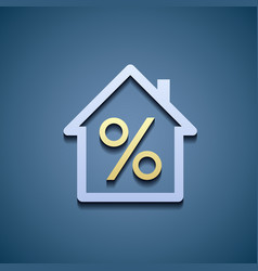 Interest on the mortgage vector image