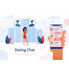 internet dating chat online flirt relationships vector image