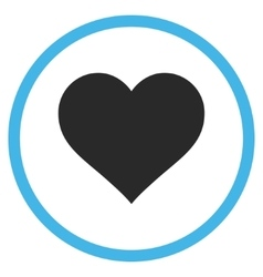 Love Heart Flat Rounded Icon vector image