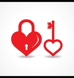 love lock and key design vector image