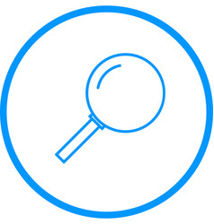 magnifying glass line icon vector image