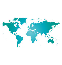 map of world blue silhouette vector image