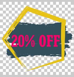 modern minimalist sales banner vector image