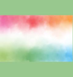 rainbow watercolor splash background with copy vector image