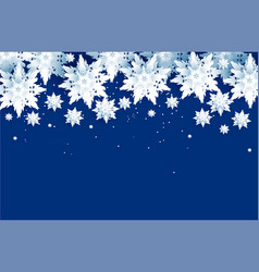 realistic paper cut snowflakes vector image