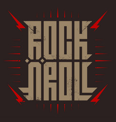 rocknroll - music poster with stylized vector image