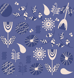 romantic floral retro seamless pattern it is vector image