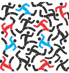 Runnig people vector image
