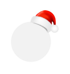 santa claus cap with ball banner vector image