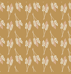 Seamless background crop oat wheat barley vector