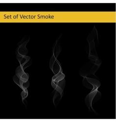 Set cigarette smoke vector