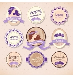 Set of beauty labels vector
