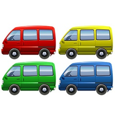 Set of vans vector image