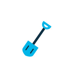shovel icon colored symbol premium quality vector image
