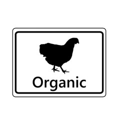 Sign for organic poultry keeping vector