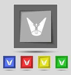 Spotlight icon sign on original five colored vector