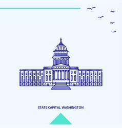 state capital washington skyline vector image
