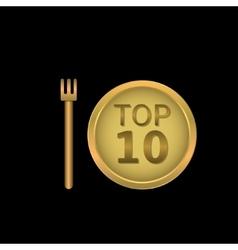 Top 10 label vector