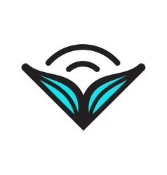Wide-open audiobook sign vector