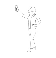Woman raising champagne glass vector image
