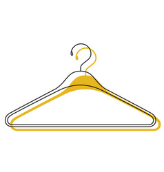 yellow watercolor silhouette of clothes hanger vector image