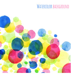 abstact background watercolor painted round vector image vector image