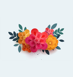beautiful bouquet of paper flowers vector image vector image