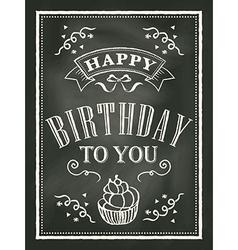 chalkboard Birthday card design background vector image