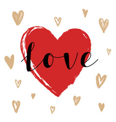 hand drawn love and heart vector image vector image