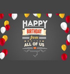 stylish greetings happy birthday creative card vector image vector image