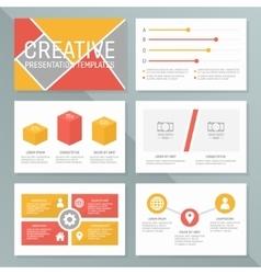 business presentation template set vector image